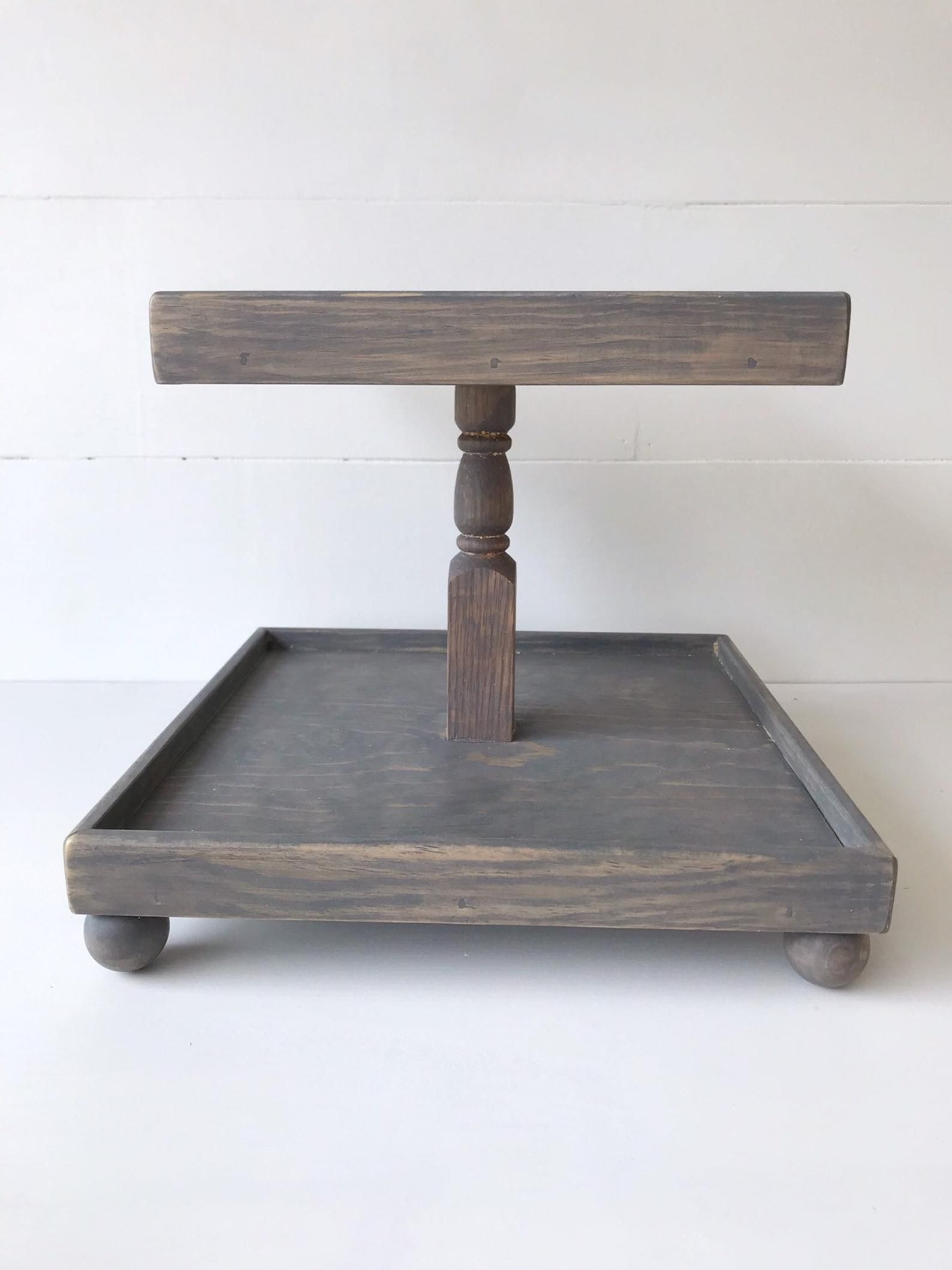Pin By Tahere Ghorbani On طروف چوبی In 2020 Tiered Tray Tiered Stand Wooden