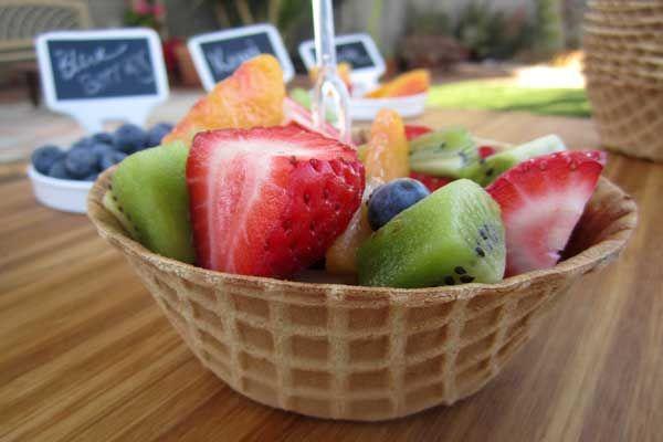 Completely Edible Fruit Bowl Dessert from @Coryanne Ettiene