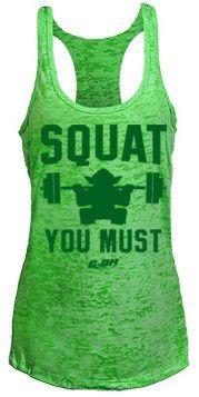 G2OH Squat You Must  Burnout Women's Tank Top - Caveman Evolution  - 1