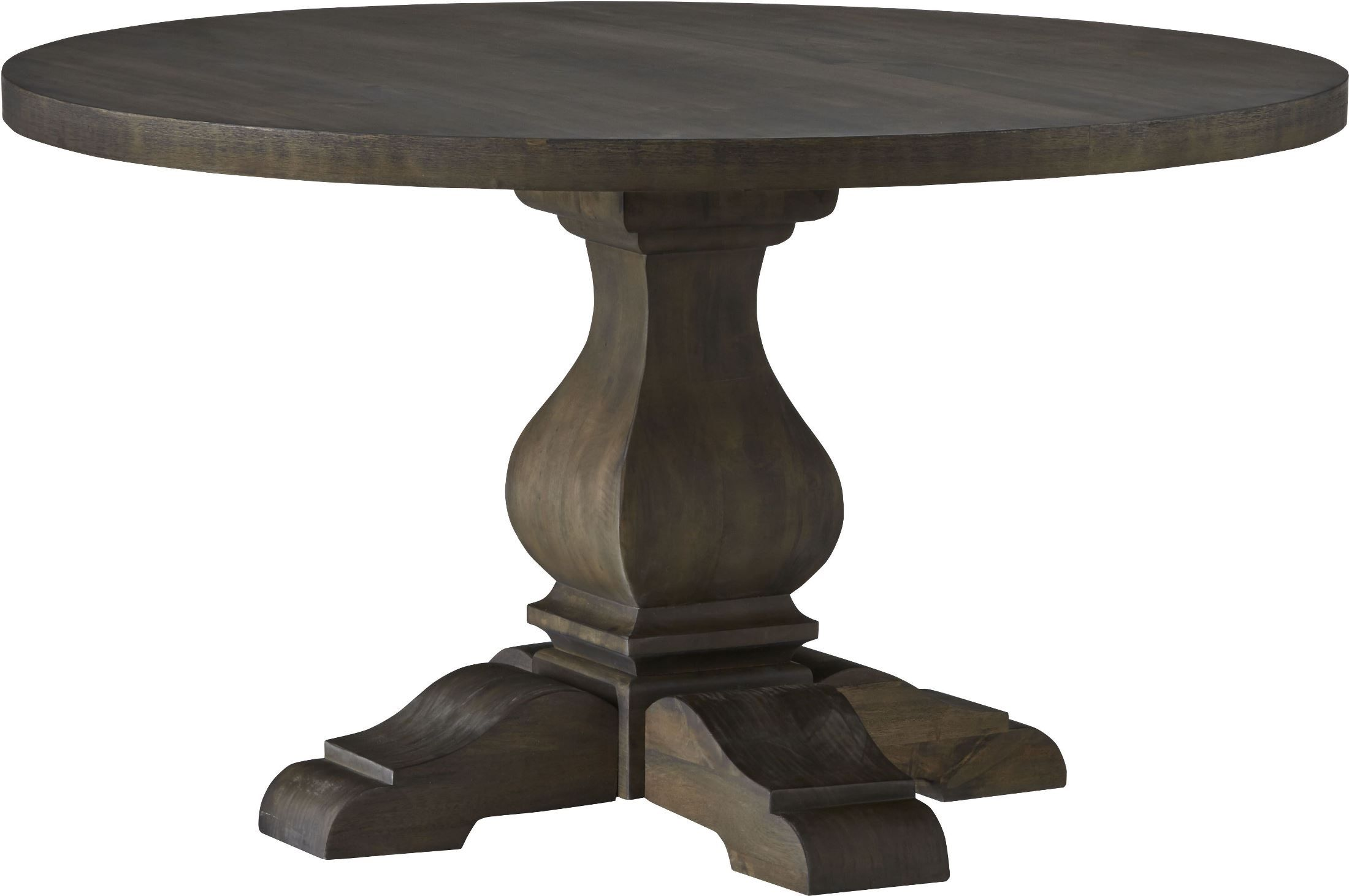 Trudell Dark Brown Round Extendable Pedestal Dining Table From Ashley D658 50t 50b Cole Round Pedestal Dining Table Pedestal Dining Table Round Dining Room