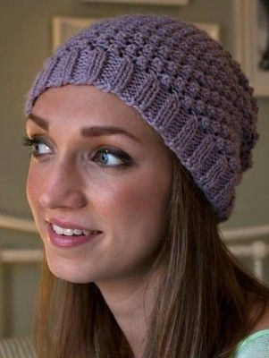 Blackberry Stitch Hat - Debbie Bliss Blackberry Beanie 75899b0167e