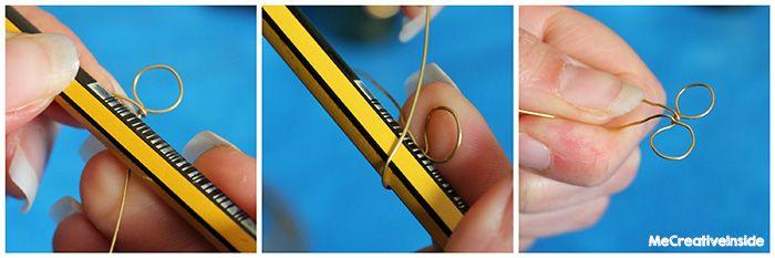 tutorial diy Fiorellini con lo smalto e il filo di ottone