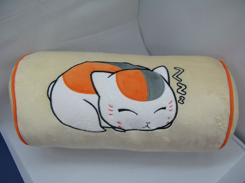 Free shipping Anime Natsume Yuujinchou cosplay Pillow cat Nyanko sensei column cartoon pillow 100% cotton New year Gift-in Pillows from Home...