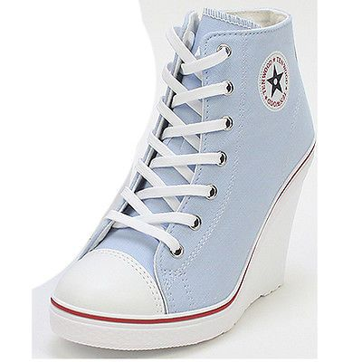 44e7d9cd83b1d1 Wedges Trainers Heels Sneakers Platform High Top Ankles Lace Ups Zip Boots  Pumps
