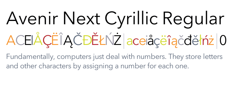Avenir Next Cyrillic Regular | Design | Italic font, Light