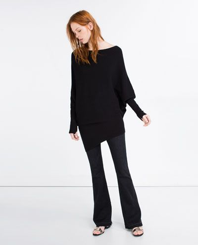 $39 ZARA - NEW IN - ASYMMETRICAL SWEATER