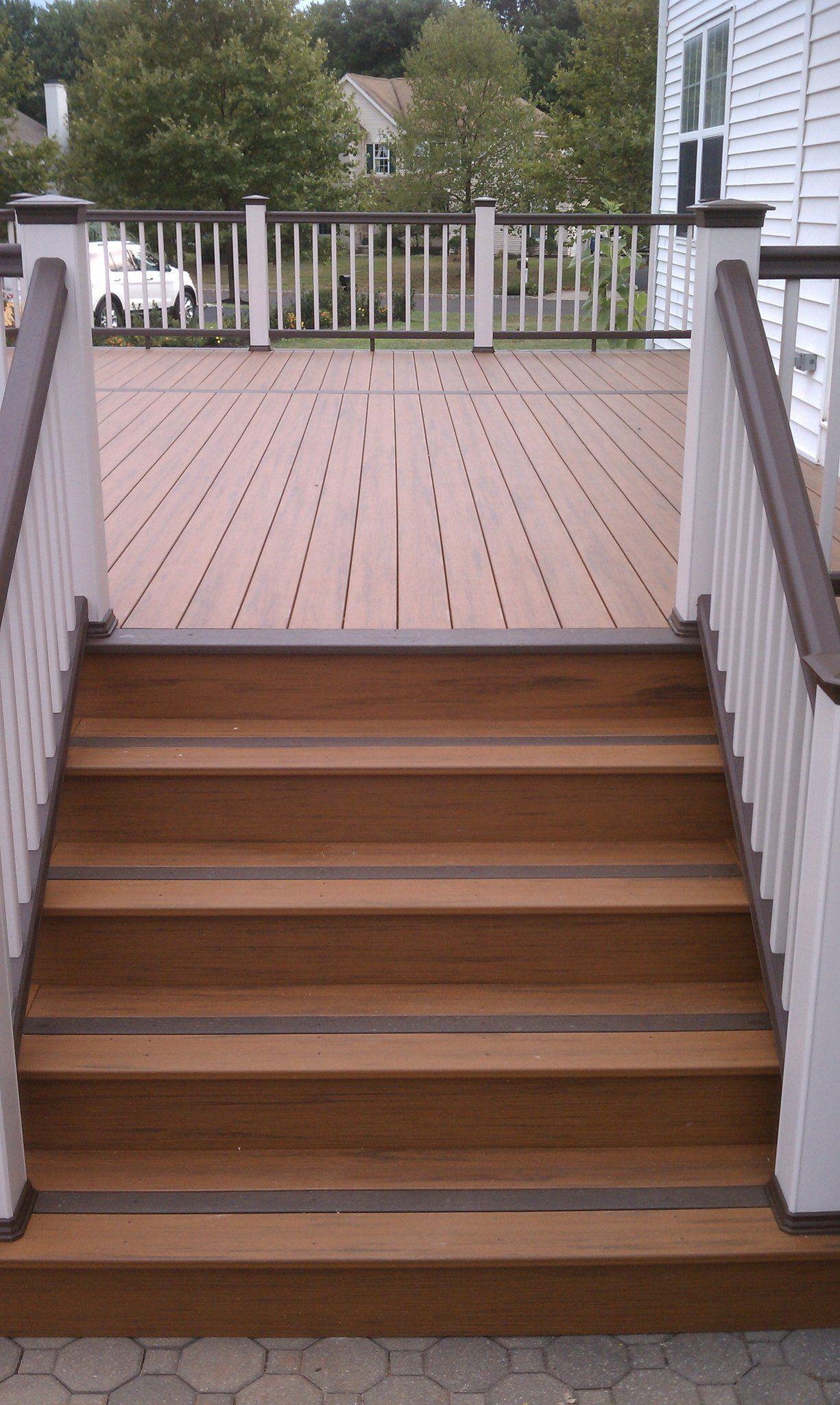 Deck Install Timber Tech Earthwood Building A Deck Deck Design Diy Deck