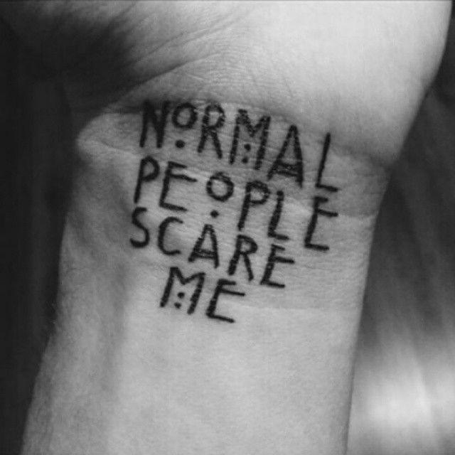 23 Morbidly Delightful American Horror Story Tattoos Story Tattoo American Horror Story Tattoo Sharpie Tattoos