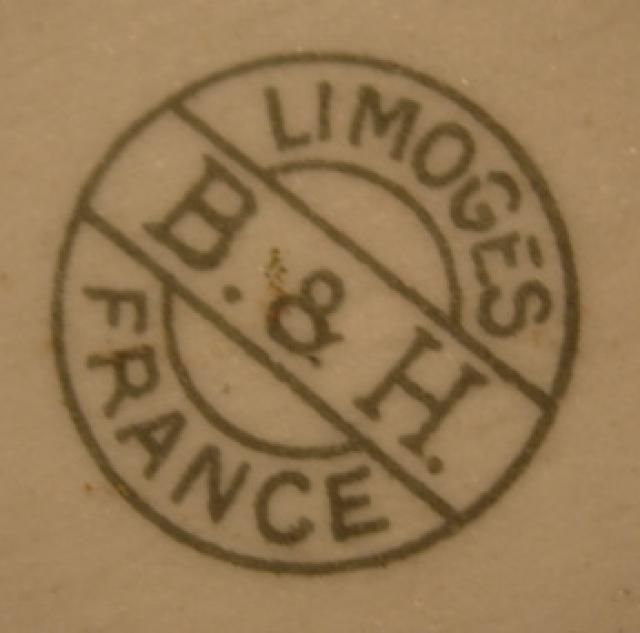 Pottery and Porcelain Marks: B & H Limoges