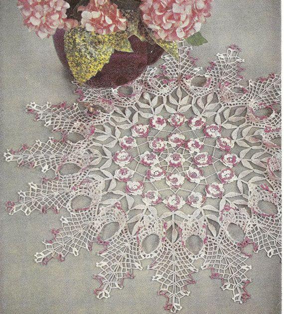Rose Doily Vintage Crochet Pattern 098 Pdf Vintage Crochet