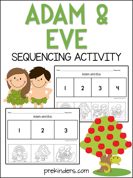 adam eve sequencing activity sequencing activities activities and sunday school. Black Bedroom Furniture Sets. Home Design Ideas