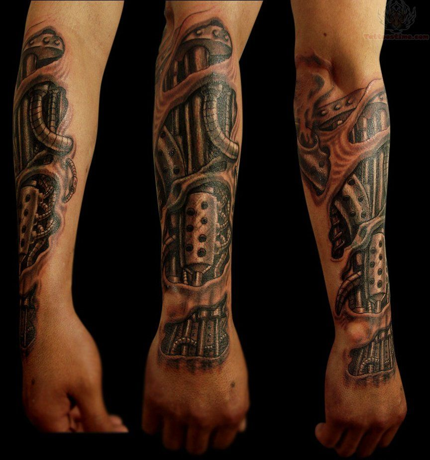 Images Of Biomechanical Tattoos: Biomechanical Feather Tattoo