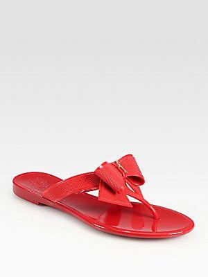 6d4ead715e7  165 Salvatore Ferragamo Bali Jelly Bow Thong Sandals