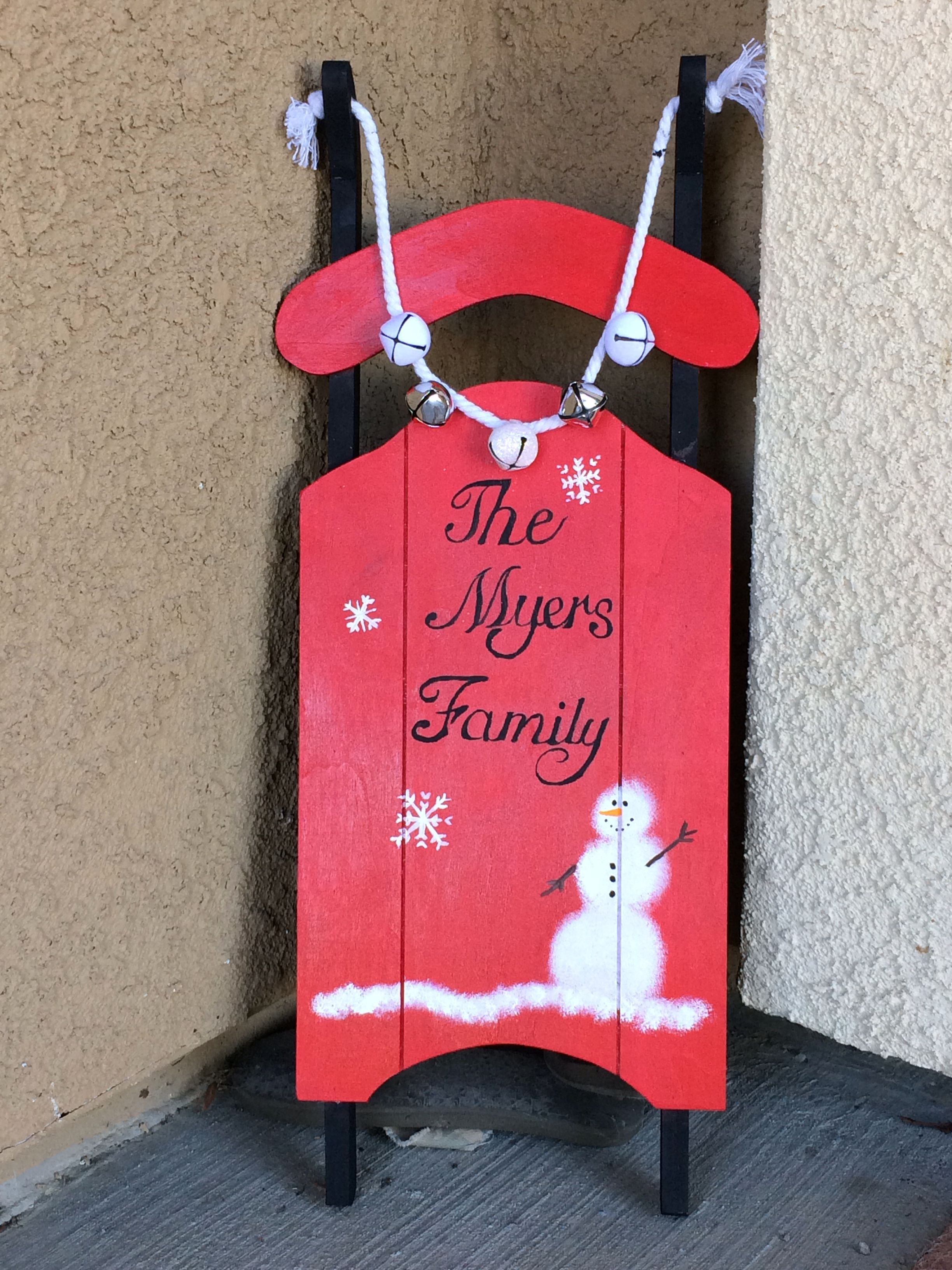 Unpainted Wooden Sled From Michaels 9 Diy Christmas