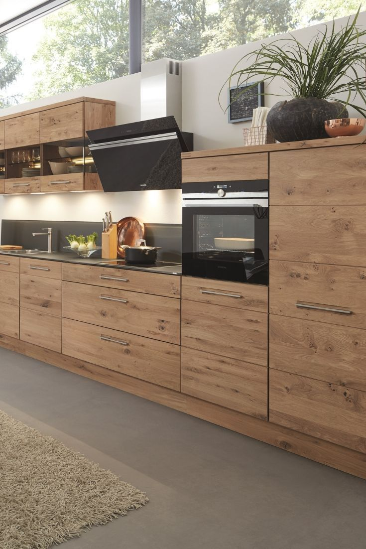 Küchenkombination Calezzo Front Asteiche. Wohnung küche