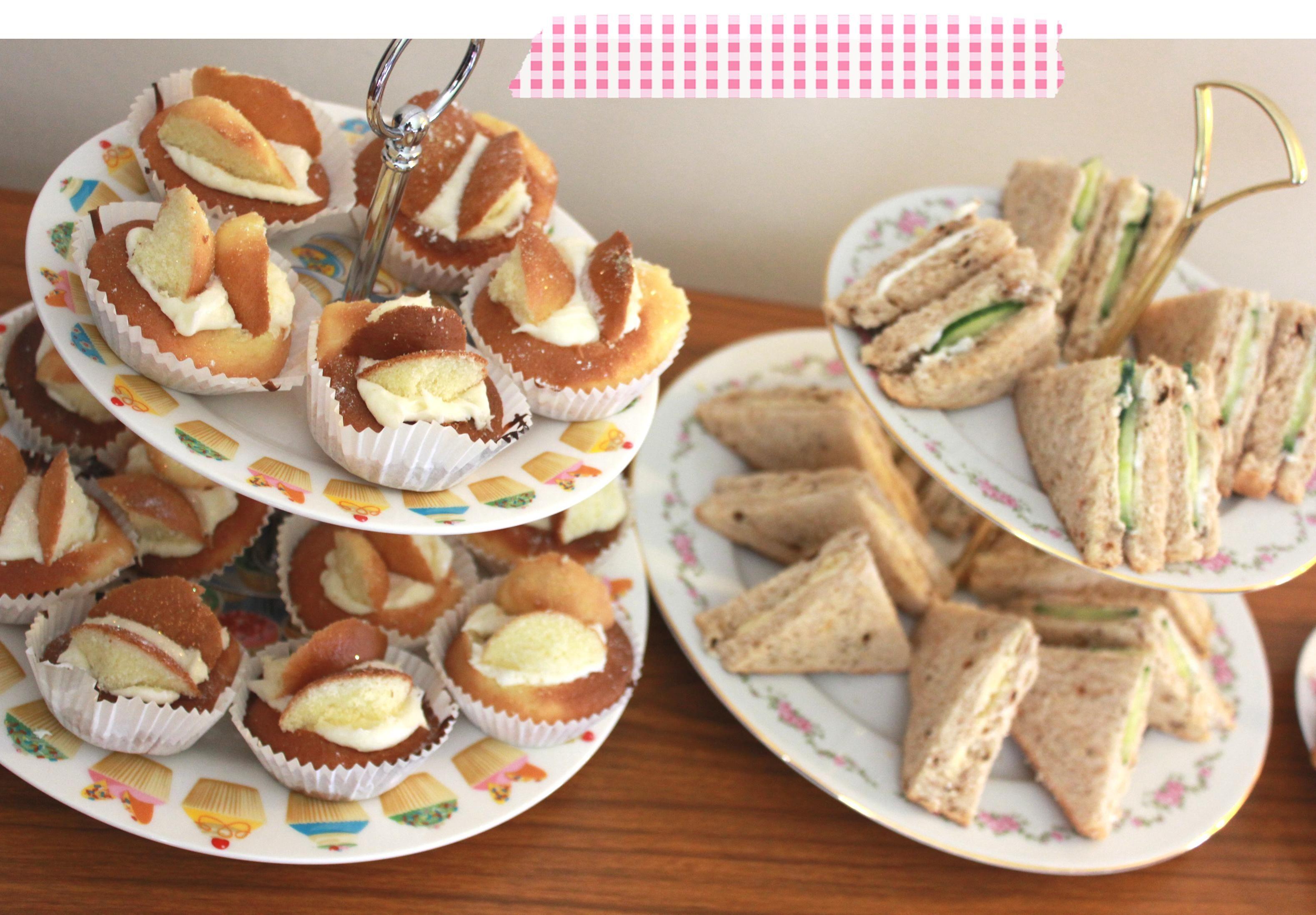 Tea Sandwiches Wedding Reception Decorations Centerpieces White