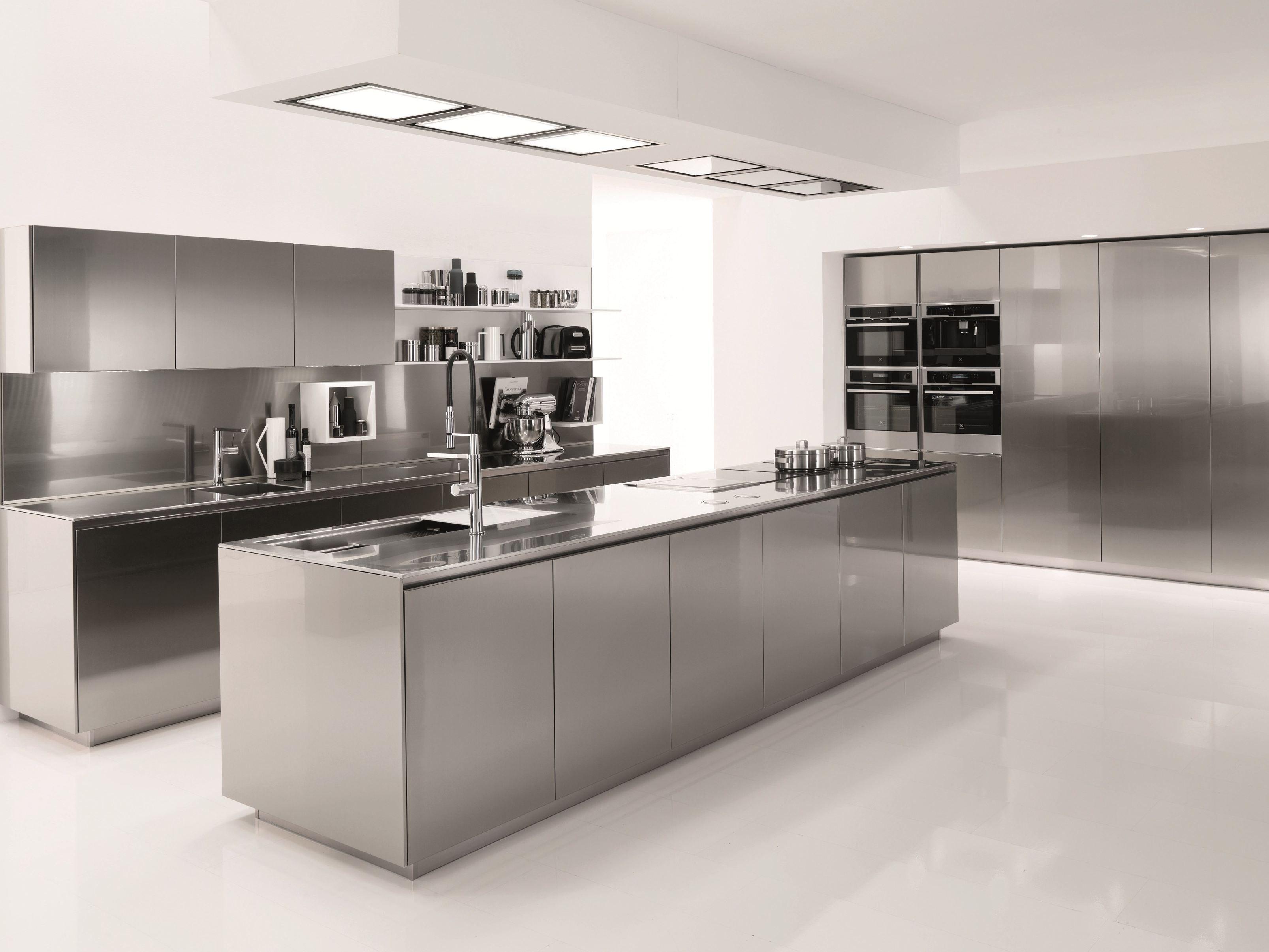 Kitchen Square Downlight Double Handle Kitchen Cabinet Stainless Steel M Modern Kitchen Design Replacing Kitchen Countertops Stainless Steel Kitchen Cabinets