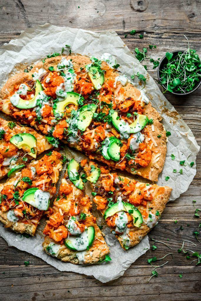 Photo of Vegan Buffalo Cauliflower Pizza with Avocado   Crowded Kitchen