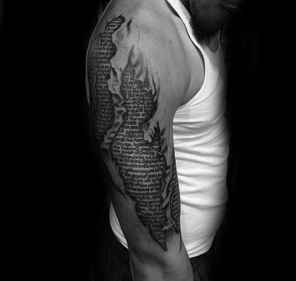50 Bible Verse Tattoos For Men - Scripture Design Ideas ...