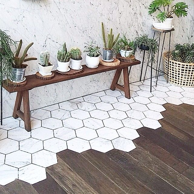 29++ Hexagon tile into wood ideas in 2021
