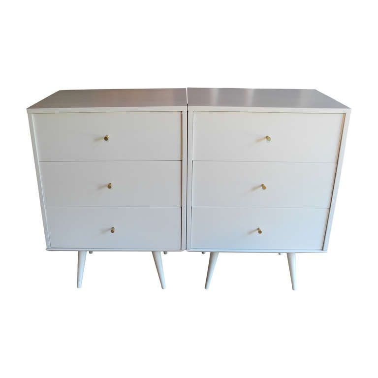 Pair of Bedsides/Dressers by Paul McCobb | From a unique collection of antique and modern night stands at http://www.1stdibs.com/furniture/tables/night-stands/