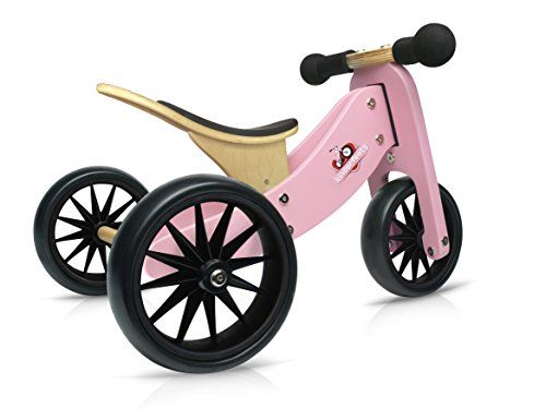 Kinderfeets Tinytot Wooden Balance Bike And Tricycle Convertible No Pedal Balance Trike For Kids And Push Bike Pink 2 In 1 Most Wanted Christmas Toys Wooden Balance Bike Balance Bike Tricycle