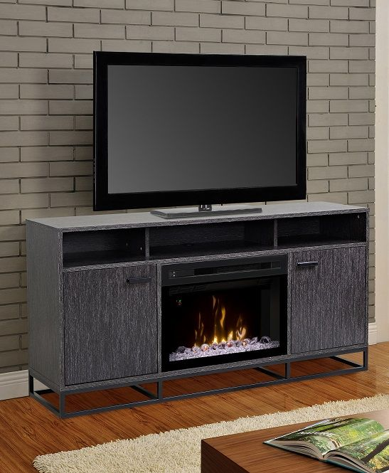 Dimplex Reily Media Cabinet With 25 Multifire Electric Fireplace