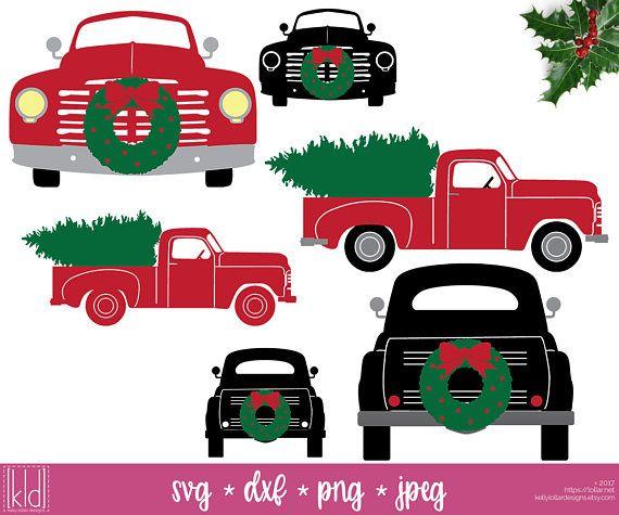 The Big 22 Piece Vintage Christmas Truck Svg Bundle For Little Etsy Christmas Truck Christmas Tree Truck Christmas Svg