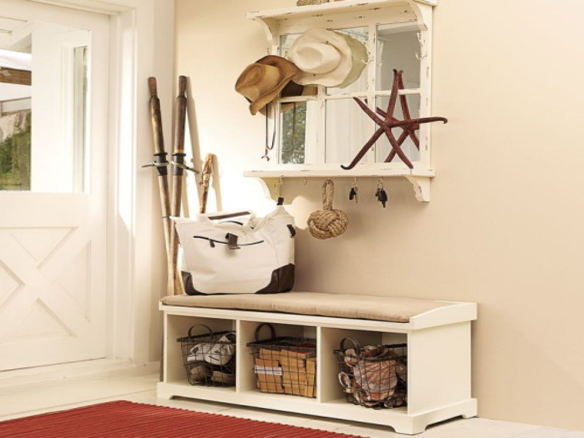 Narrow hallway storage solutions   Superb Mudroom Entryway Design Ideas With Benches And Entryway