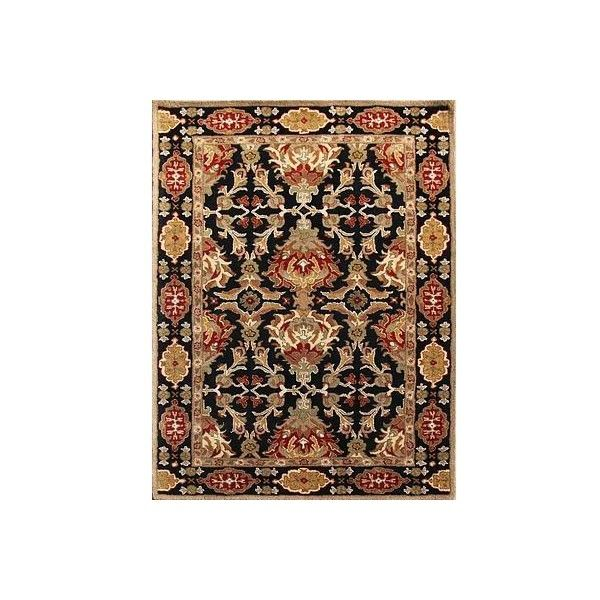 NOVICA Classic Oriental Black/Red Wool Area Rug (445 KWD) ❤ liked on Polyvore featuring home, rugs, area rugs, clothing & accessories, red, oriental area rugs, oriental rugs, wool area rugs, red area rugs and black area rugs