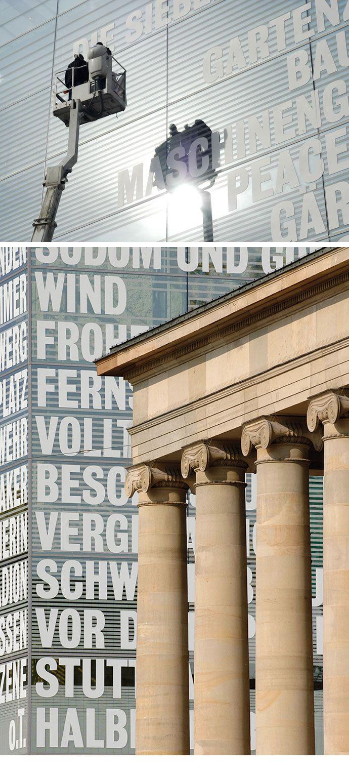 Fassadenbeklebung kunstmuseum schlo platz stuttgart for Grafikdesign stuttgart