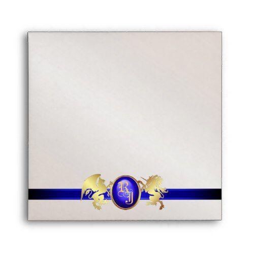 prince princess blue ribbon scroll envelope party envelopes