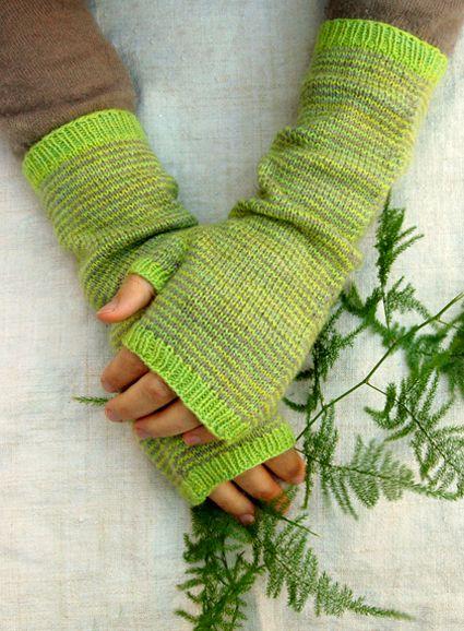 Long Striped Hand Warmers Free Pattern On Ravelry Knitting