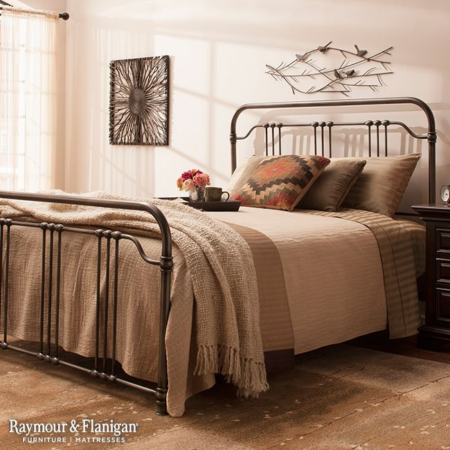 Superb Reminiscent Of Antique Iron Beds, This Zadia Queen Bed Offers Timeless Style.  The Simple