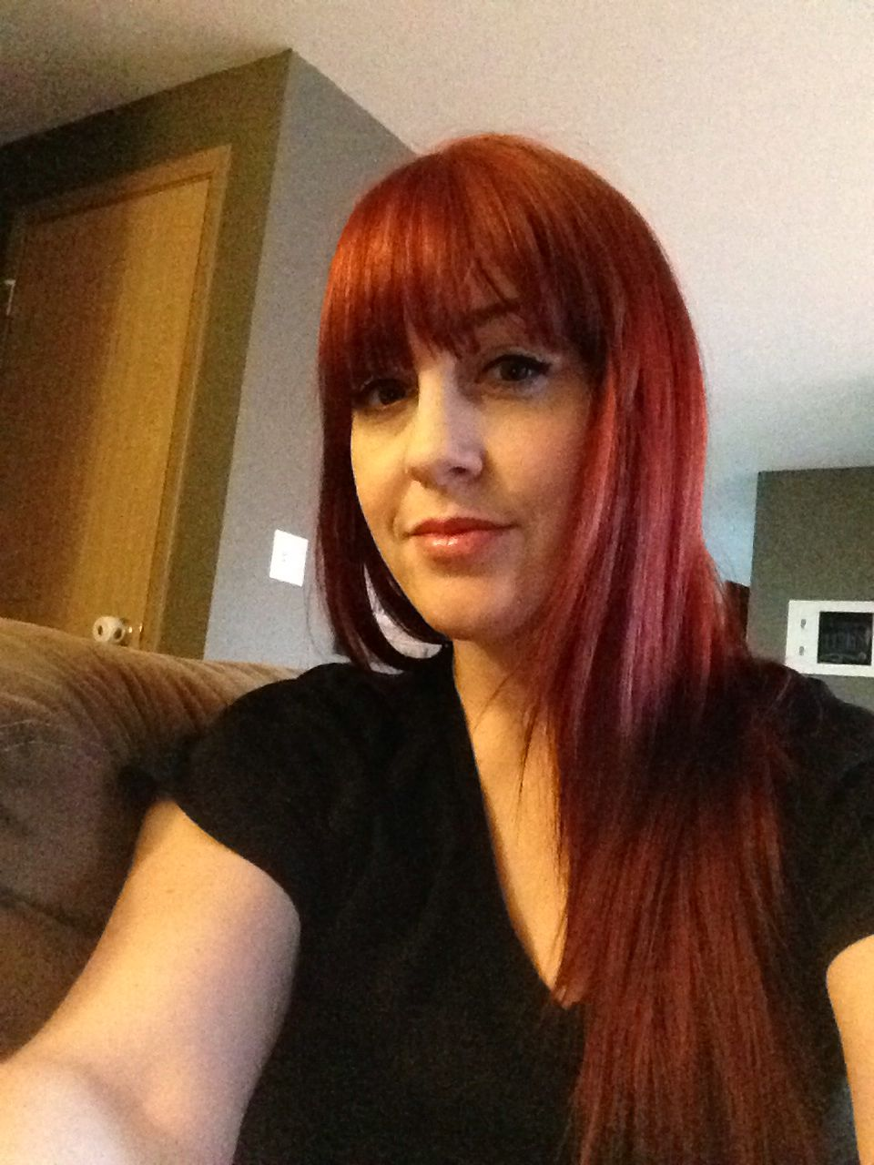 red hair - bangs