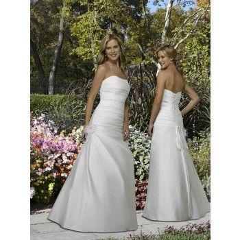 elegant alinie satin schlichte brautkleider hochzeit in der halle  kleid hochzeit