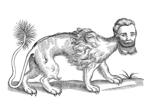 manticore -curious woodcuts of fanciful and real beasts