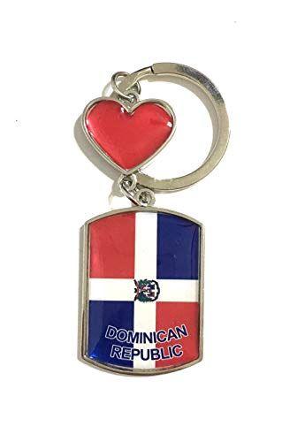 PRK 14 Dominican Republic Flag Keychains Keyrings Llavero… www.amazon.com/…