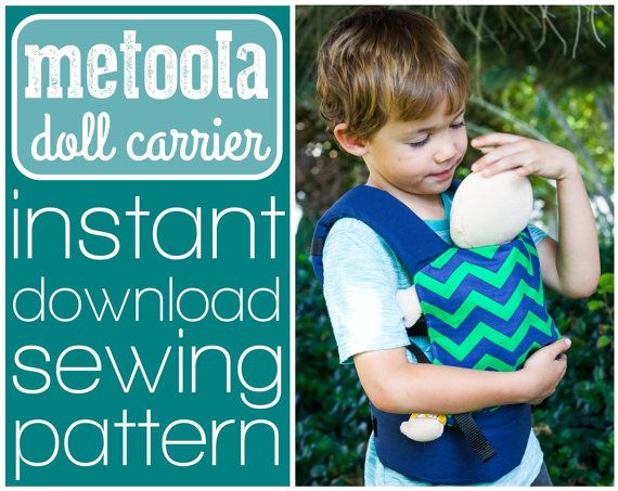Metoola baby doll carrier sewing pattern (INSTANT DOWNLOAD) | Baby ...