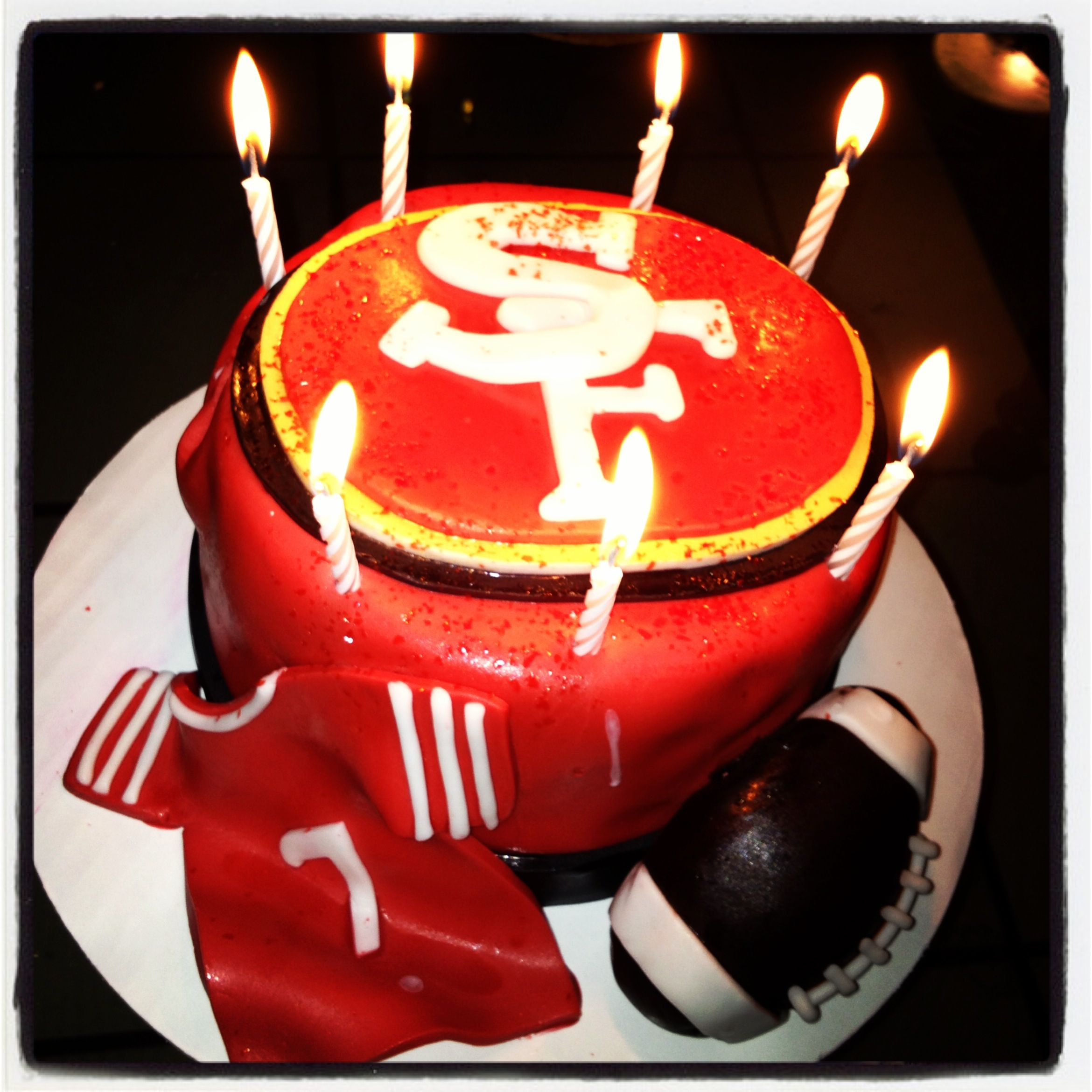 49ers cake with images 49ers cake cake birthday candles