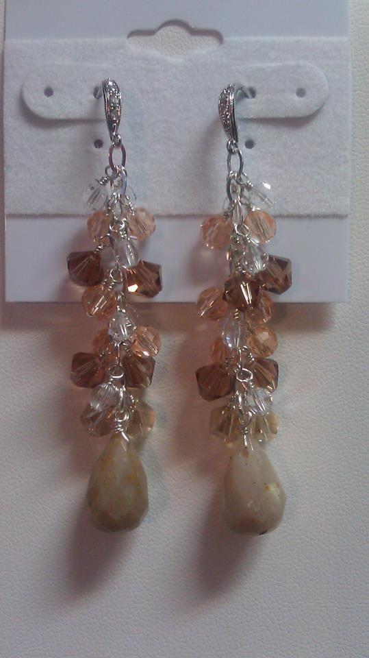 JBM Weddings - Opal briolettes accompanied by beautiful swarovski crystals :)