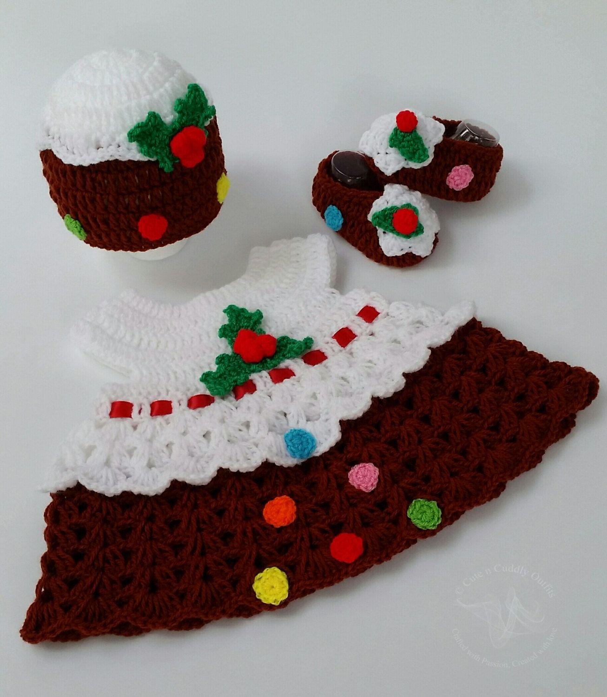 Christmas Pudding Baby Outfit.Baby Christmas Dress Baby Girl Clothes Baby Girl Christmas
