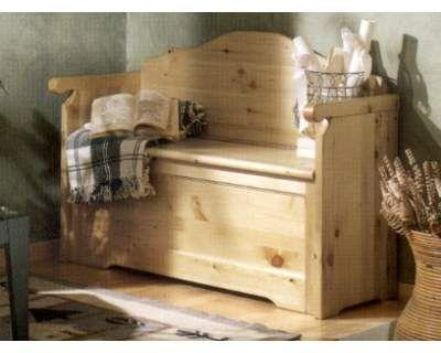 arredamenti rustici cassapanca con braccioli in pino nuova vero affare progetti legno