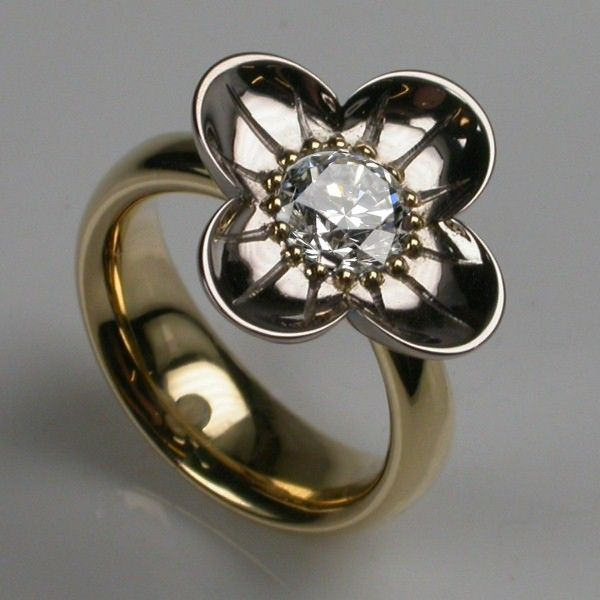 Luxury Designer Jewellery 1 carat Diamond Rings Buttercup Ring
