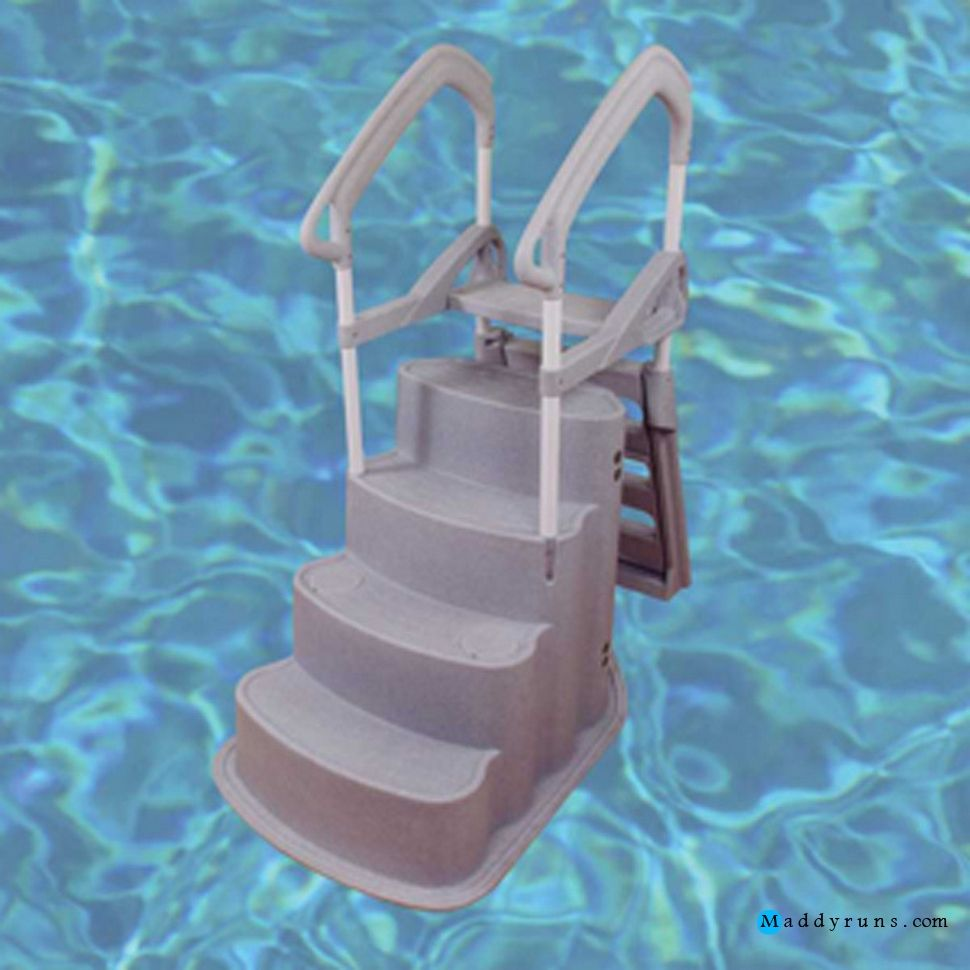 Swimming pool pool supplies pool steps elegant swimming for Above ground pool ladder ideas