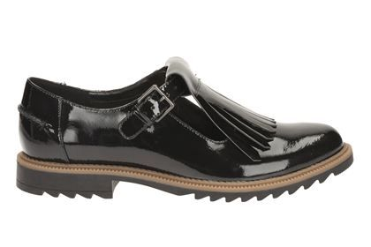 Clarks Griffin Mia - Black Patent - Womens Casual Shoes | Clarks