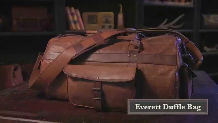 6f91818199 VIDEO  The Everett Vintage Leather Duffle Bag for Men by Buffalo Jackson  Trading Co. Genuine full grain leather