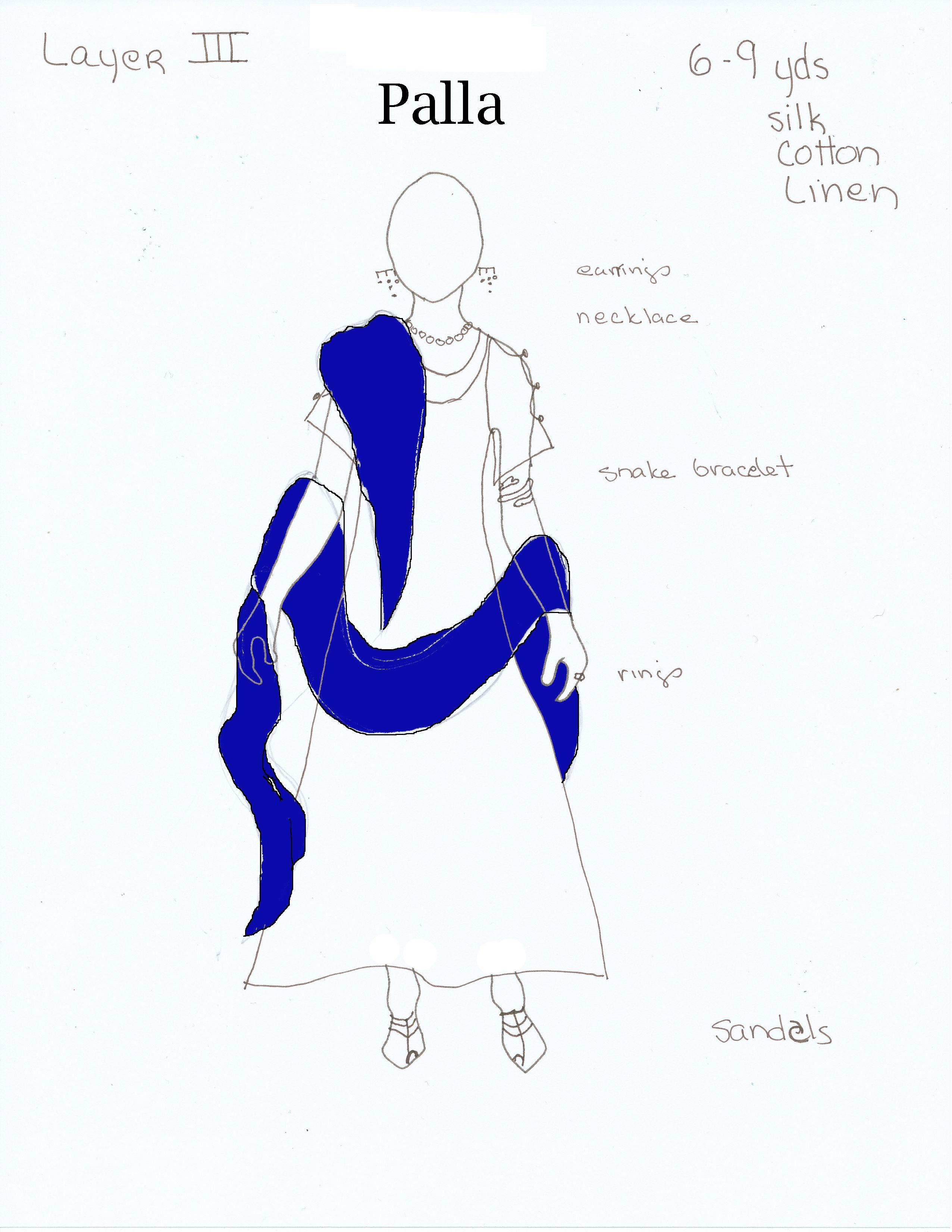 Roman Women Stola Roman palla | Ideas para Costura | Pinterest