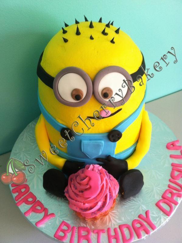 Minion birthday cake in Raleigh NC Sweet Cherry Bakery Kids