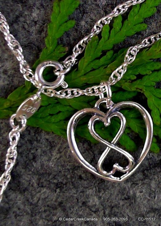Infinite Triple Heart in 925 Sterling Silver on 925 Sterling Silver Chain                          CC-11512